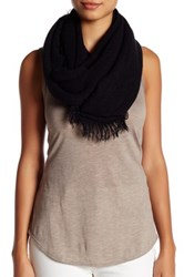14Th And Union Frayed Knit Infinity Scarf Black