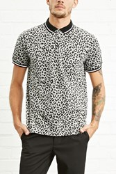 Forever 21 Leopard Print Polo Shirt