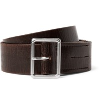 J.Crew 4Cm Brown Wallace And Barnes Distressed Leather Belt Brown