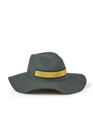 Paul Smith Banded Wool Fedora Grey Green