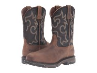 Ariat Workhog Wide Square Ct Wp Insulated Rye Brown Coffee Men's Work Boots