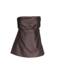 Liviana Conti Topwear Tube Tops Women Dark Brown