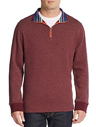 Robert Graham Classic Fit Falconer Striped Pullover Bordeaux