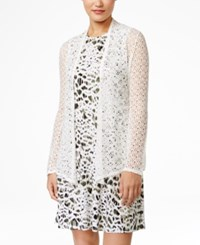 Styleandco. Style And Co. Open Knit Cardigan Only At Macy's Winter White