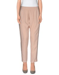 Pinko Trousers 3 4 Length Trousers Women Skin Color