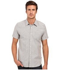 Threads 4 Thought The Mesa Mini Stripe Shirt Grey Men's Short Sleeve Button Up Gray