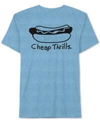 Jem Men's Hot Dog Graphic T Shirt Blue Heath