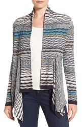 Nic Zoe Petite Women's 'Shaded Stripes' Cardigan Multi