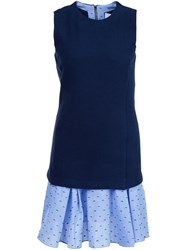 Derek Lam 10 Crosby Embroidered Sleeveless Dress Blue