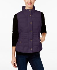 Charter Club Petite Quilted Vest Only At Macy's English Plum