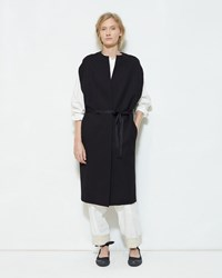Y's Belted Wool Vest Black
