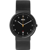 Braun Bn0032 Matte Stainless Steel Watch Black