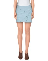 Beayukmui Skirts Mini Skirts Women Sky Blue