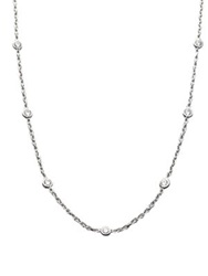 Roberto Coin Diamond And 18K White Gold Station Necklace