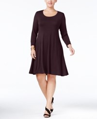 Styleandco. Style Co. Plus Size Swing Dress Only At Macy's Dried Plum
