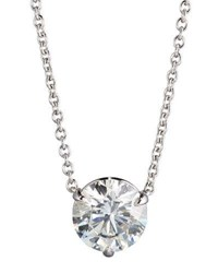 Nm Diamond Collection 18K White Gold Round Pendant Necklace 1.5Ct