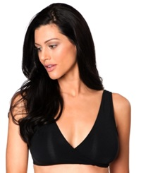 A Pea In The Pod Maternity Full Coverage Nursing Sleep Bra Black