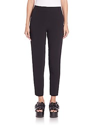Alexander Wang Ankle Length Crepe Pants Onyx