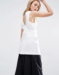 Weekday Wrap Front Top With Keyhole Back White