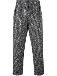 Emporio Armani Textured Trousers Black