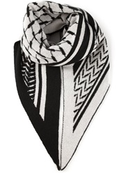 Lala Berlin Knit Triangle Scarf Black