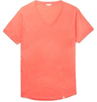 Orlebar Brown Ob V Slim Fit Cotton Jersey T Shirt Orange