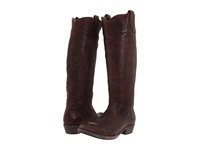 Frye Carson Lug Riding Dark Brown Stone Antiqued Women's Pull On Boots