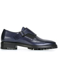 Lanvin Monk Strap Loafers Blue