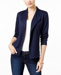 Styleandco. Style Co. Petite Draped Blazer Only At Macy's Industrial Blue