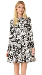 Holly Fulton Kiki Long Sleeve Dress White Black