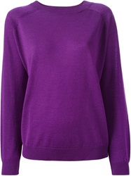 Cividini Fine Knit Sweater Pink And Purple