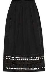 Sea Cutout Embroidered Cotton Voile Skirt