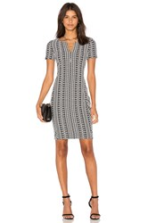 Three Dots Dre Side Panel Dress Black And White