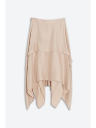 Barbara Casasola Waterfall Skirt Neutral