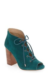 Very Volatile Women's 'Wishful' Peep Toe Pump Teal Suede