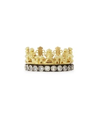 Armenta 18K Gold And Midnight Diamond Crown Ring