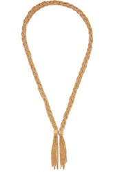 Aurelie Bidermann Miki Gold Plated Necklace
