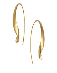 Kenneth Cole Twisted Drop Earrings Gold