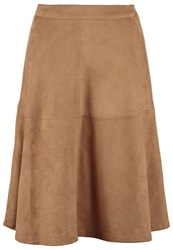 Comma Aline Skirt Cognac