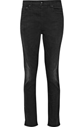 R 13 Slouch Skinny Mid Rise Jeans Black