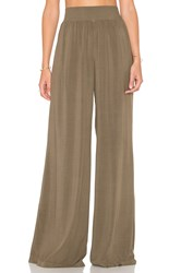Michael Stars High Waisted Wide Leg Pant Green