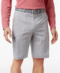 Greg Norman For Tasso Elba Men's Tech Performance Plaid Shorts Only At Macy's