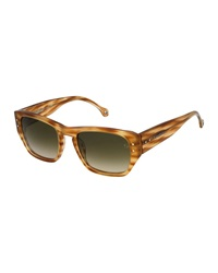 Ermenegildo Zegna Light Havana Navigator Sunglasses Blonde