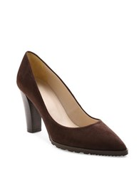 Andre Assous Sandy Suede Point Toe Pumps Brown