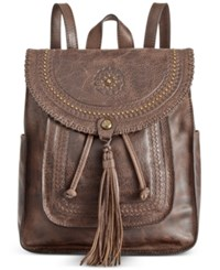 Patricia Nash Distressed Vintage Jovanna Backpack Chocolate