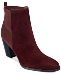 Marc Fisher Frenchie Booties Women's Shoes Red Suede
