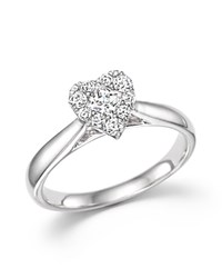 Bloomingdale's Diamond Heart Ring In 14K White Gold .50 Ct. T.W.