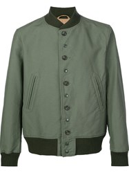 Engineered Garments Buttoned Bomber Jacket Green