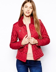 Yumi Quilted Jacket Red
