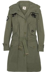 Figue Field Appliqued Cotton Jacket Army Green